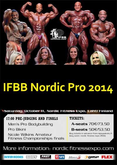 2014 Nordic Pro 2 نتایج مسابقات 2014 IFBB Nordic Pro