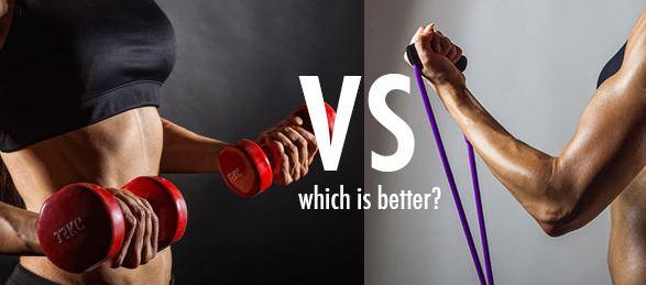 bands vs weights cari کاهش وزن با تمرینات قدرتی بهتر است یا تمرینات هوازی
