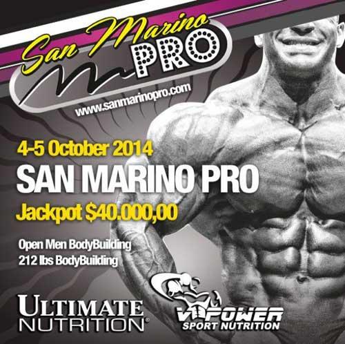 flyer 1 نتایج مسابقات سان مارینو 2014 IFBB San Marino Pro