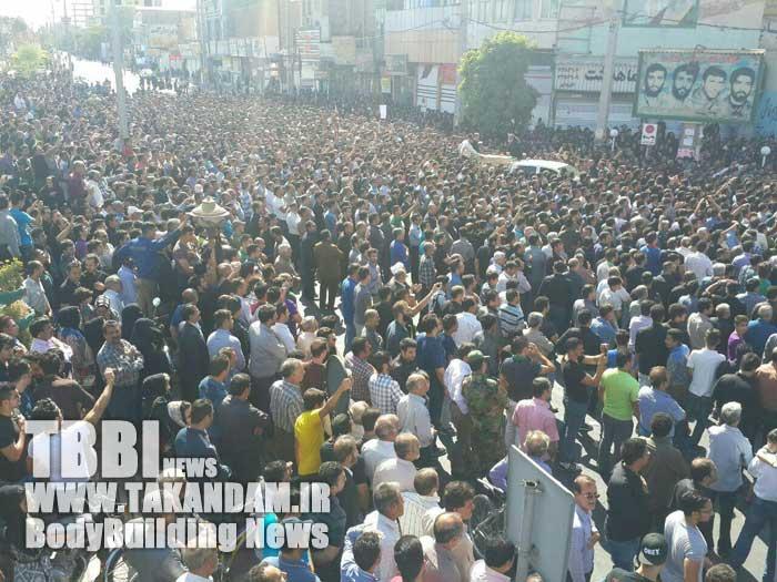 111 تصاویر تشییع پیکر پاک بیت الله عباسپور قهرمان قهرمانان